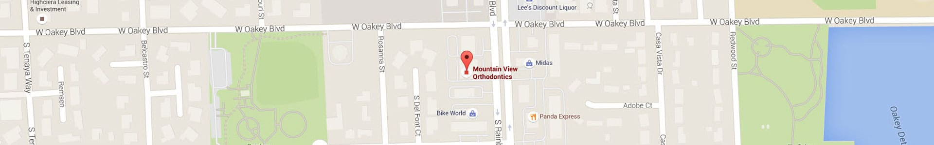 Las Vegas Footer Map Mountain View Orthodontics Las Vegas NV
